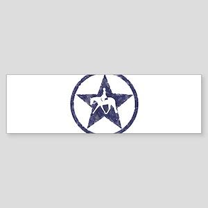 Texas star english horse Bumper Sticker