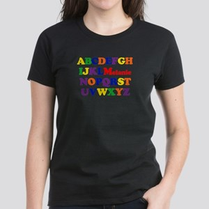 Melanie - Alphabet Women's Dark T-Shirt