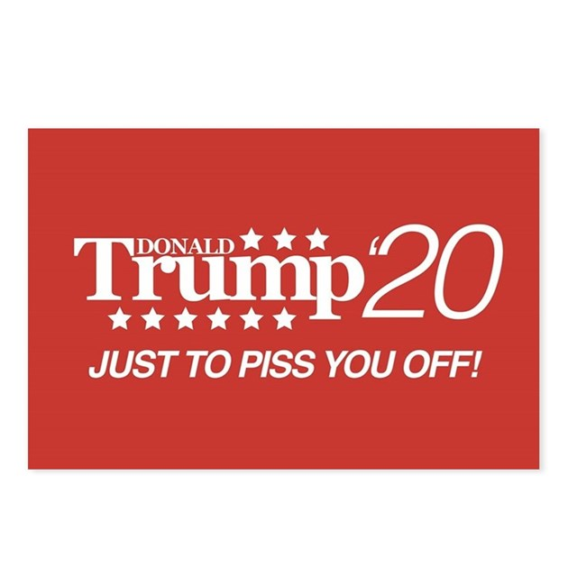 Donald Trump '20 Postcards (Package Of 8) By Elections2020