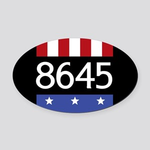 8645 Oval Car Magnet