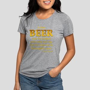 Czech Beer Proverb Women's Dark T-Shirt