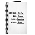 Birthplace Earth Journal
