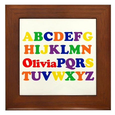 Olivia - Alphabet Framed Tile