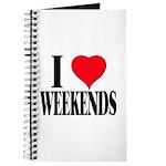 I Love Weekends Journal