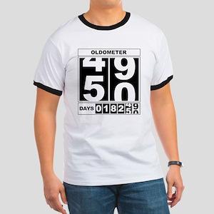 50th Birthday Oldometer Ringer T