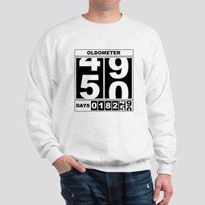 50th Birthday Oldometer Sweatshirt