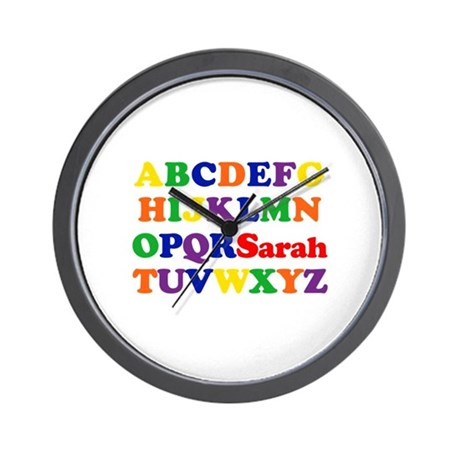 Sarah - Alphabet Wall Clock