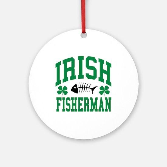 Irish Fisherman Ornament (Round)