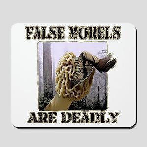 false morel mushroom Mousepad