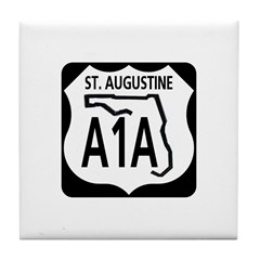 A1A St. Augustine Tile Coaster