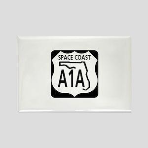 A1A Space Coast Rectangle Magnet