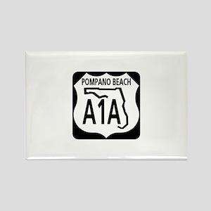 A1A Pompano Beach Rectangle Magnet