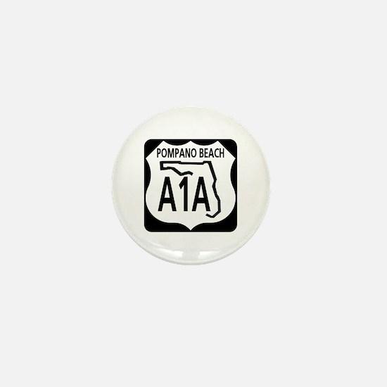 A1A Pompano Beach Mini Button