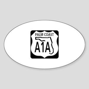 A1A Palm Coast Oval Sticker