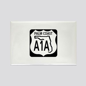 A1A Palm Coast Rectangle Magnet