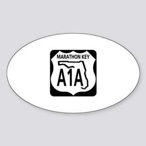 A1A Marathon Key Oval Sticker