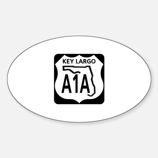 A1A Key Largo Oval Decal
