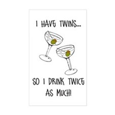 Drink Twice As Much - Rectangle Sticker