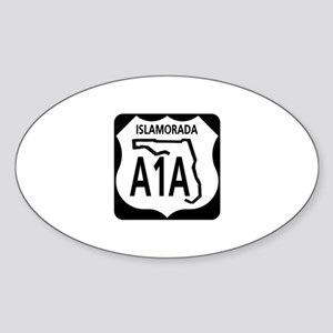 A1A Islamorada Oval Sticker