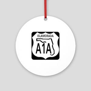 A1A Islamorada Ornament (Round)