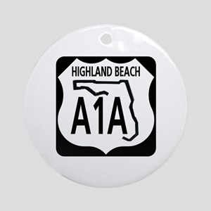 A1A Highland Beach Ornament (Round)