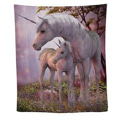 Enchanted Unicorns Wall Tapestry