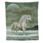 Water Unicorn Wall Tapestry