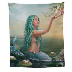 Marine Mermaid Wall Tapestry