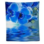 Blue Orchids Wall Tapestry