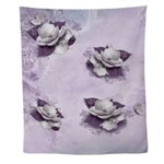 Artistic Violet Floral Wall Tapestry