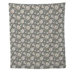 Ivory Flower Pattern Wall Tapestry
