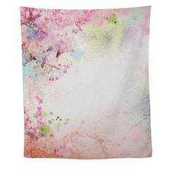 Pink Watercolor Floral Wall Tapestry