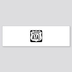 A1A Fort Lauderdale Bumper Sticker