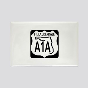 A1A Fort Lauderdale Rectangle Magnet