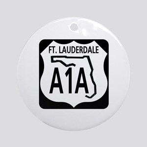 A1A Fort Lauderdale Ornament (Round)