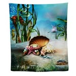 Underwater Sea Life Wall Tapestry