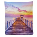 Colorful Pier Wall Tapestry