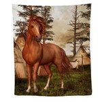 Native American Horse Wall Tapestry
