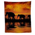 Elephant Safari Wall Tapestry