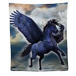 Black Pegasus Wall Tapestry