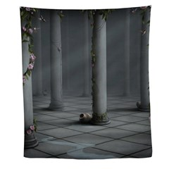 Gothic Rose Columns Wall Tapestry