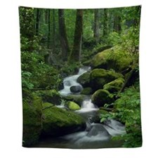 Summer Forest Brook Wall Tapestry