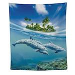 Tropical Island Fantasy Wall Tapestry