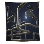 Water Pipeline Maze Wall Tapestry