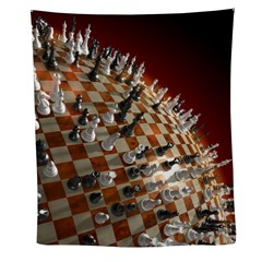 Global Chess Game Wall Tapestry