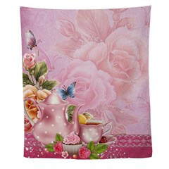 Pink Tea Party Wall Tapestry