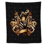 Medieval Coat Of Arms Wall Tapestry