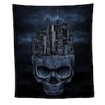 Gothic Skull City Wall Tapestry