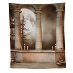 Gothic Marble Columns Wall Tapestry
