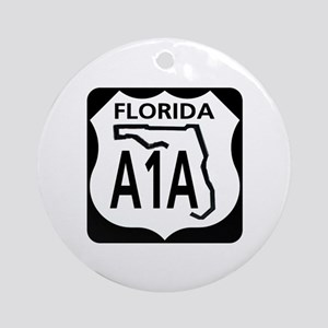 A1A Florida Ornament (Round)